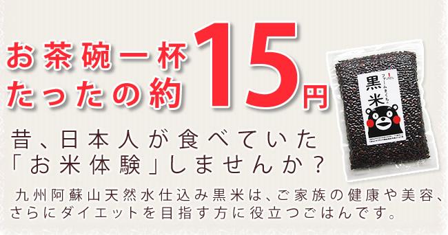 お茶碗一杯約15円