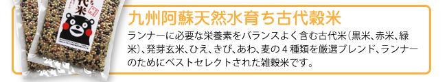 九州阿蘇天然水育ち古代穀米